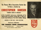 Christopher Dawson lecture poster