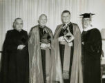 Christopher Dawson receiving honorary degree