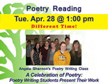 A Celebration of Poetry: Poetry Writing Students Present Their Work
