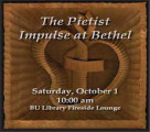 The Pietist Impulse at Bethel