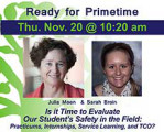 Is it Time to Evaluate our Student's Safety in the Field: Practicums, Internships, Service...