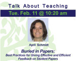 Buried in Papers: Best Practices for Giving Effective and Efficient Feedback on Student Papers
