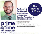 Twilight of Authority? Using Literature to Understand Changing Perceptions of Institutional...