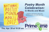 Poetry Month Celebration: In Words and Music