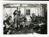 Bethel Hockey Club inside warming house in 1966-67