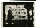"Bethel College and Seminary presents ""Back to Bethel"" A color film strip with Sound..."