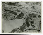 Aerial view of future Arden Hills campus without any buildings during winter looking northeast 1963