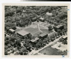 Aerial view of whole Snelling Avenue campus looking southeast