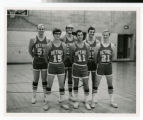 Bethel College men's basketball team ca. 1975