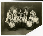 Bethel Academy women's basketball team in studio 1924