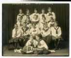 Bethel Academy women's basketball team in studio 1920