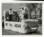 """Axe the Jacks"" Homecoming float 1958"