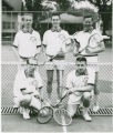 Men's tennis team on courts 1960