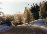 Road to North Village in winter