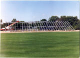 Construction of new bleachers at Royal Stadium 2
