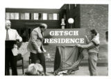 "Unveling of """"Getsch Residence"""" sign, """"Residence Naming"""""