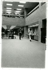 Students in main floor library (LRC) interior