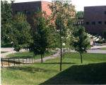 View of Robertson Center and Kresge Courtyard from Arden Village hill