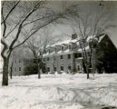 Side view of Bodien Residence during wintertime