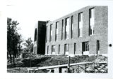Side view of Nelson Hall under construction