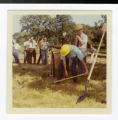 Digging portion of groundbreaking ceremony for College buildings at Arden Hills 1971