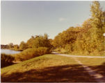 View of lakeside path toward North Village