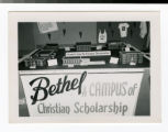 """Bethel A Campus of Christian Scholarship"" table display with building models of..."