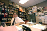 Professor G. W. Carlson in his office