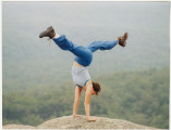Handstand on Bald Rock