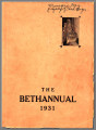 Bethel Yearbook 1931